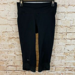 Under Armour Black Cropped Leggings Small